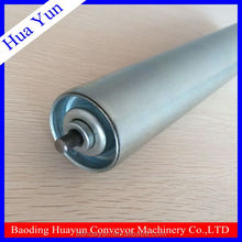 18mm Dia Galvanized Steel Gravity Roller Mini Conveyor Roller with Spring Loaded Shaft