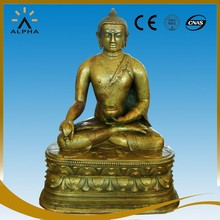 Casting Bronze Sculpture Shakyamuni Buddha Statue for Temple Decoration