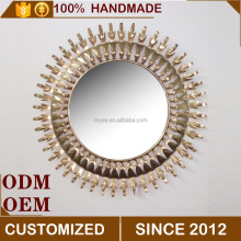 Classic Design Sun Shaped Wall Mirror, Cheap Wall Hanging Mirror