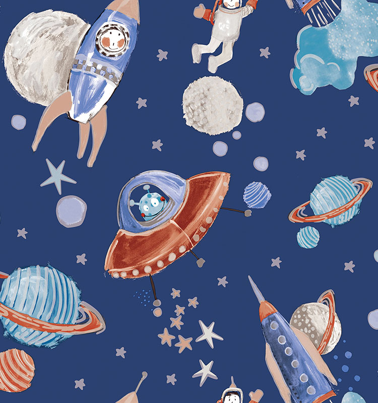 Strippable modern cartoon design wallpaper for kids room fashion