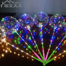 18-inch LED String Transparent Helium Bobo Balloon