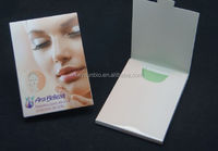 high quality and lowest price Virgin Wood Pulp Material and Facial Tissue Type oil blotting paper