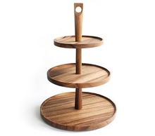 Natural Bamboo Cake Stand For Wedding Decoration, Birthday Parties, Celebrations Perfect Gift