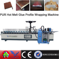 PUR hot melt glue profile wrapping paper laminating machine