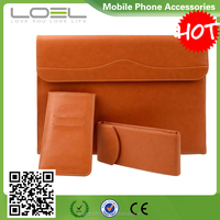 2016 new arrival !! 3 in 1 Fashion mini/ultra-thin envelope PU cover sleeve with card holder & wallet for ipad with 3 pockets