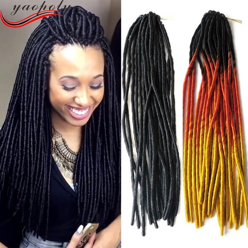18 Synthetic Wholesale Soft Dread Locks Faux Locs Kinky Twists Hair