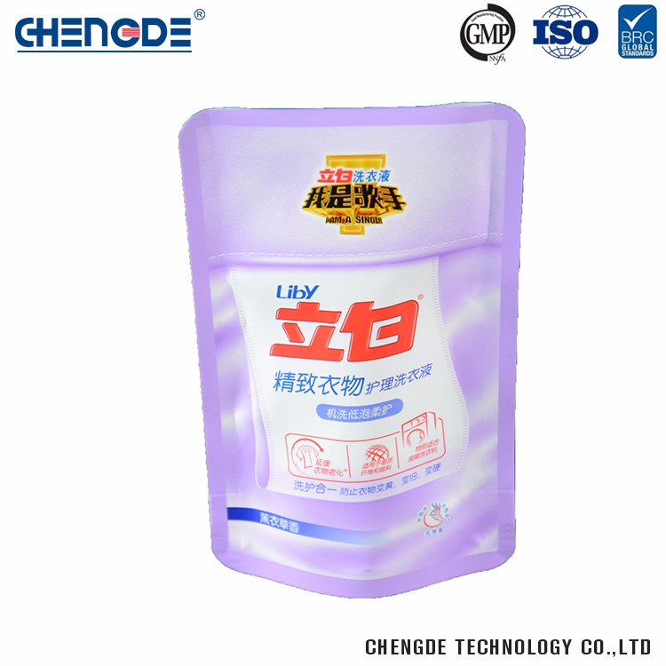 High Quality Factory Supply Custom Logo Laundry Detergent Plastic Packaging Bag