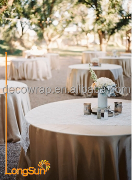Fancy Factory Satin Fabric Banquet Table Cover