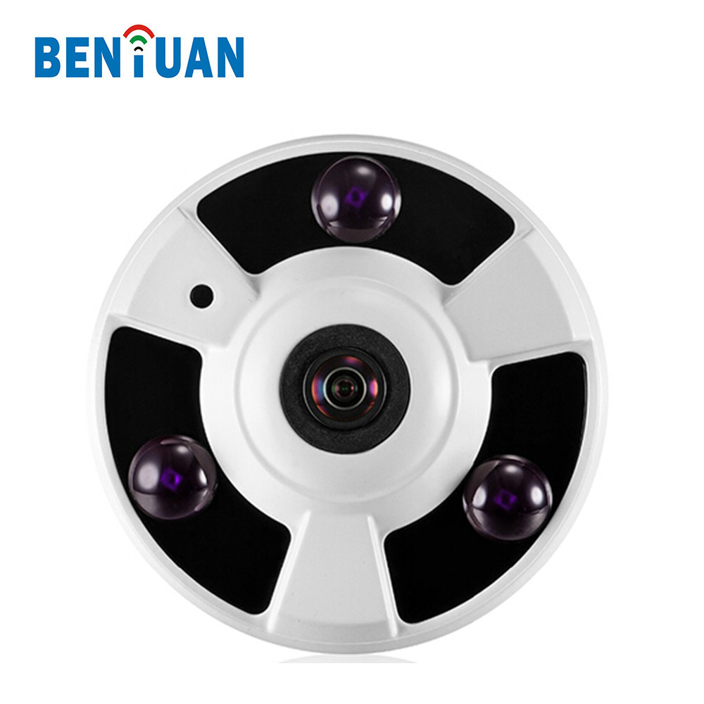 960P AHD 360 Degree Panoromic Lens Infrared CCTV Small Camera with Metal Housing