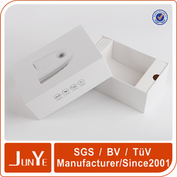 factory design white rigid box with die cut paper insert