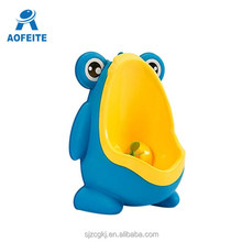 Cute Frog Shape Children Baby Potty Training Kids Portable Toilet Vertical Wall-Mounted Pee
