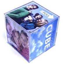 nice looking fast rotating acrylic cube photo frame
