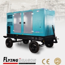 Trailer mounted diesel portable silent power plant 100kw 125kva Yuchai electric dynamo