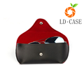 Hot sale leather sunglasses case soft for sunglasses case