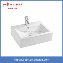 2016 Popular wholesale cheap rectangular ceramic countertop bar sink