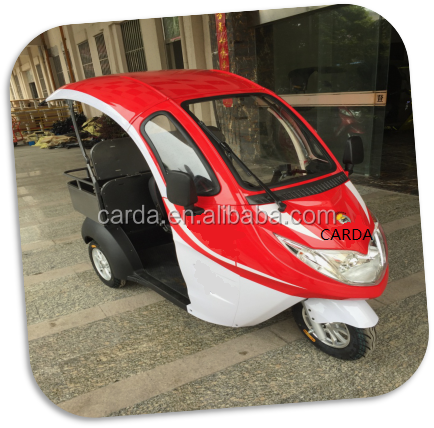 battery operated electric passenger tricycle without door escooter with sunscreen roof