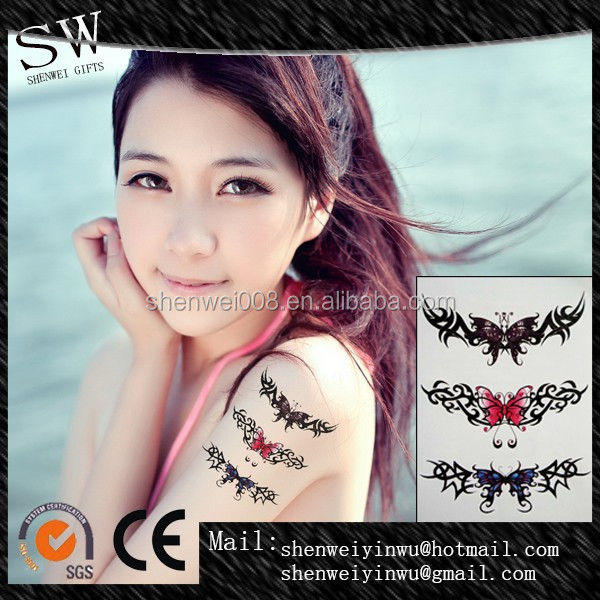 Temporary sticker heart design adult body bracelet arm band tattoo