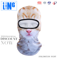 Halloween Funny Animal Balaclava Ski Face Mask Digital Printing Motorcycle or Fishing Full Face Balaclava Bicycle Mask