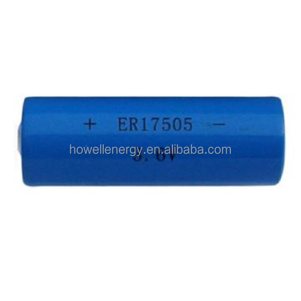ER17505 3600mah 3.6V Li-SOCI2 Battery used for electricity gas and flow instrument