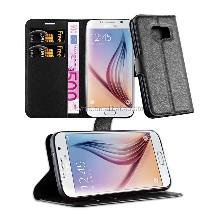 Top sales shockproof flip wallet card slot pu leather case for samsung galaxy s7