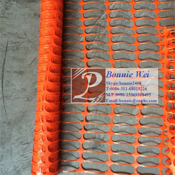 HDPE warning orange safety <strong>netting</strong>