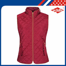 Clothing Manufacture OEM Custom Fashion Winter Wear Womens Quilted Vest With zipperd Pockets
