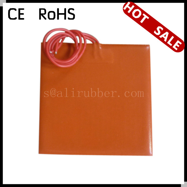 "Silicone Rubber Heater Bed 12V 144W 150*150MM(6""x6"") For 3D Printer With 100K thermistor"