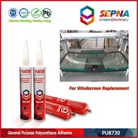 All car windshield replacement install polyurethane adhesive sealant for windshield repair