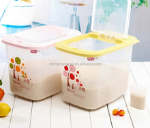 plastic food packing for rice storage, large volume food storage