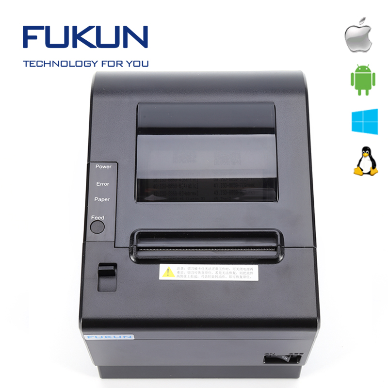 pos 80 c printer drivers 80mm thermal printer support ESC/POS ticket printing machine price in india FK-POS80-AT