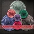 Birthday party decoration elegant folded paper wheels backdrop