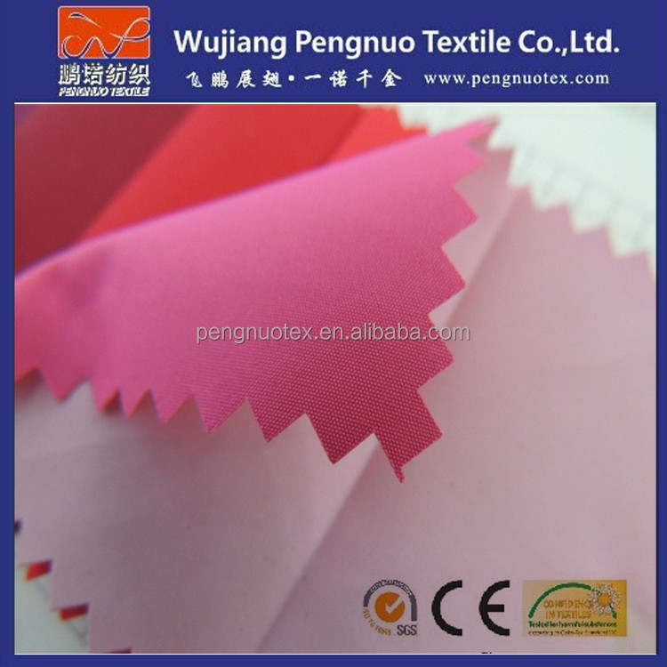 190T polyester pu coated fabric/ 190t polyester taffeta tent fabric