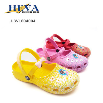 Girls Colsed Toe Bowknot Straps Printed Eva Injected Sandals