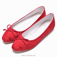 Classic woman suede leather lovely flat pumps 2017 new fashion ladies shoes