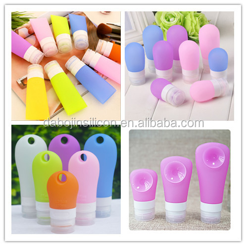 2017 New Products 3 Sizes Candy Colorful Silicone Cosmetics Travel Bottles With Different Shape Silicone Air Travel Bottles Set