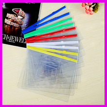 2017 Factory Custom Clear Vinyl Transparent PVC Slider Ziplock Bag, Clear A4 Plastic Document Bag