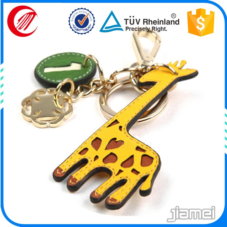2016 Cheap custom leather keychains wholesale