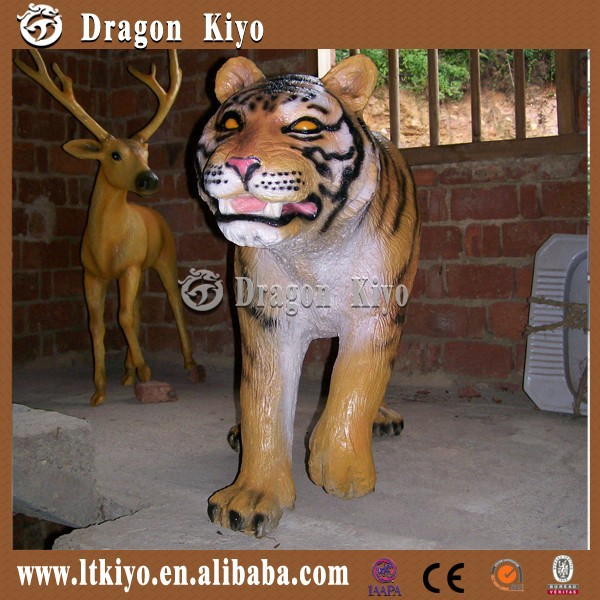 2017 high quality fiberglass life size animals for amusement park/shopping mall/exhibition