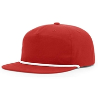 Stock Cheap Blank Customize Plain Nylon Rope Bill Unstructured Snapback Cap Hats With Wash Care Label