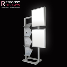 Widely-used floor metal picture frame advertising display stand