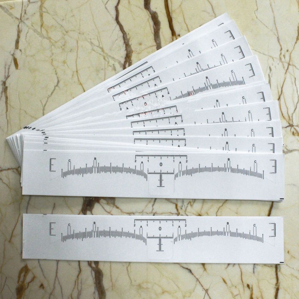Eyebrow Measurement tool Eyebrow Shaping Stencil Ruler Microblading Disposable Sticker