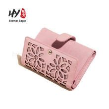 New style promotional natural genuine leather card holder wallet