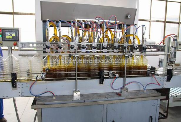 Plastic Bottle Cooking Oil Filling Packing Machine