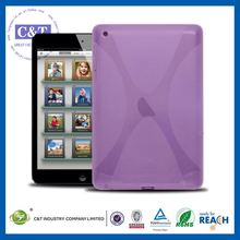 C&T New stylish flexible tablet lavender tpu for mini ipad case