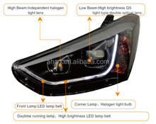 High quality and good performance LED car HID auto head lamp used for Hyundai new santa fe 2013-2015