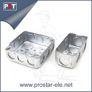 Metal EMT Conduit Galvanized Rectangular Box