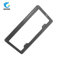 100% Brand New & High Quality Printed Carbon Fiber License Plate Frames Covers for American market