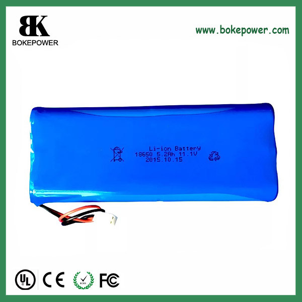 11.1v 5200mah lipo battery pack E2600 3S2P battery pack with molex connector 2 wires.