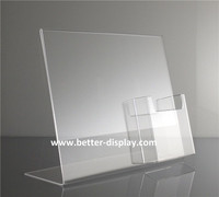 crystal lucite brochure self standing acrylic magazine rack plexiglass brochure holder perspex