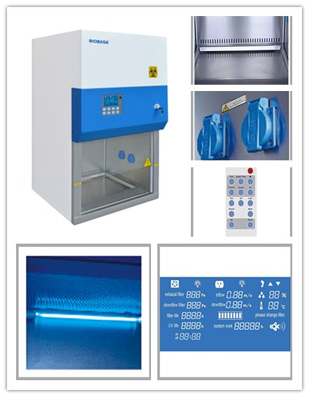 Biobase Hot Sale Laboratory Furniture Class II A2 Biosafety Cabinet 11231BBC86